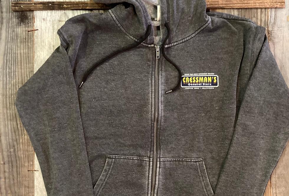 Cressman's Fire Truck Women's Sweat Shirt Zip Up Charcoal