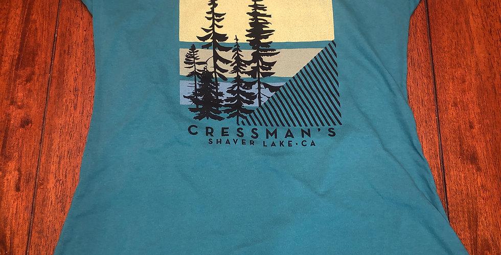 Cressman's Trees Women's V-Neck Teal