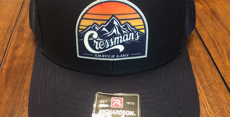 Cressman's Sunset Trucker Hat Navy Blue