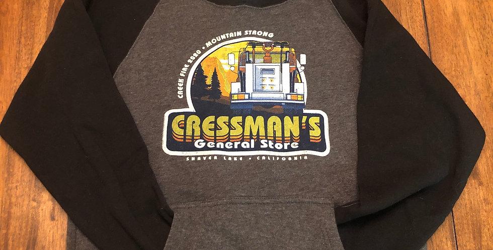 Cressman's Fire Truck Kids Sweat Shirt Black / Gray
