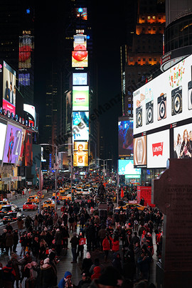 New York Time Square At Night