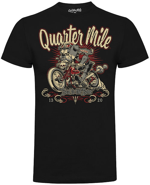 Bad To The Bone Bulldog Quarter Mile T-Shirt (Black)