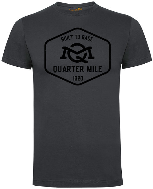 Large Emblem Quarter Mile T-Shirt (Charcoal)