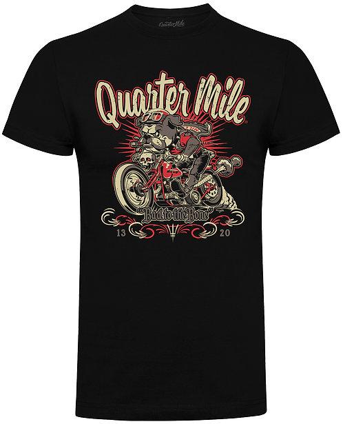 Quarter Mile Bad To The Bone Bulldog T-Shirt