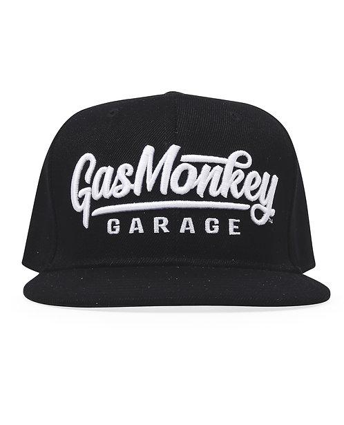 GMG 3D Script Logo Snap-Back Cap Black
