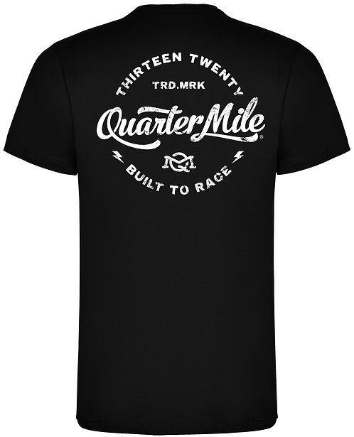 Lightning Circle Quarter Mile T-Shirt (Black)