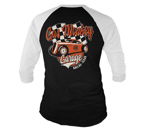 Gas Monkey Garage Racing Baseball 3/4 Sleeve Tee