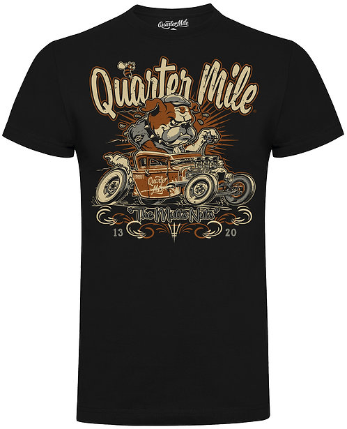 Mutts Nuts Bulldog Quarter Mile T-Shirt (Black)