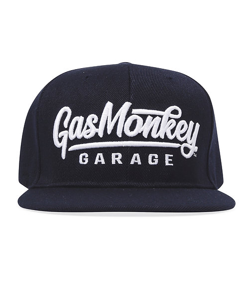 GMG 3D Script Logo Snap-Back Cap Navy