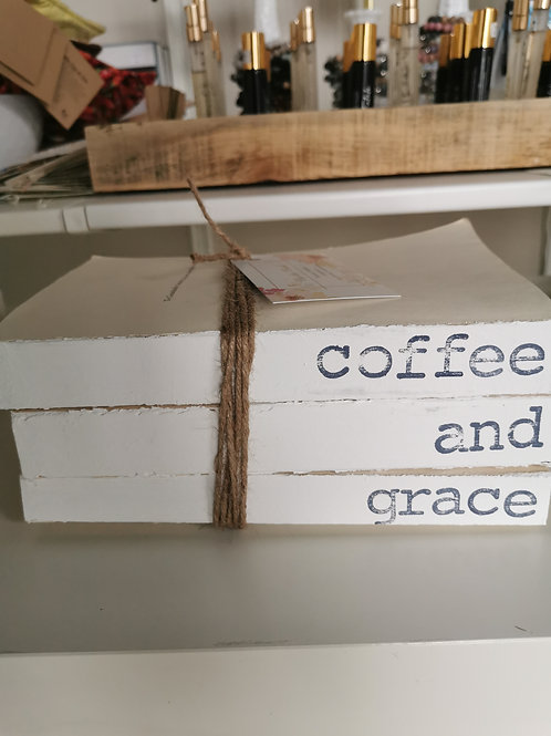 Coffee and Grace Book Stack