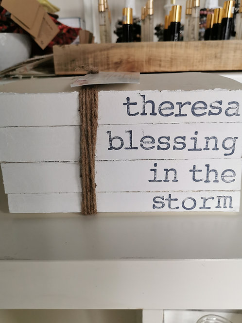 There's a blessing in the storm book stack