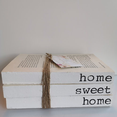 Home Sweet Home Book Stack