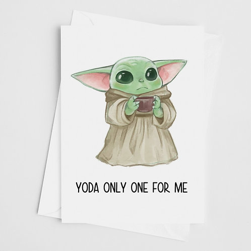 Yoda Only One Card