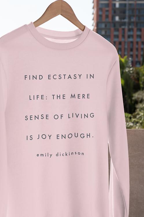 Find Ecstasy Emily Dickinson