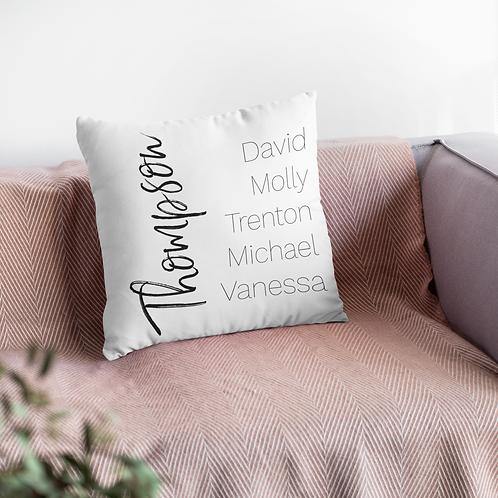 Family Name Cushion
