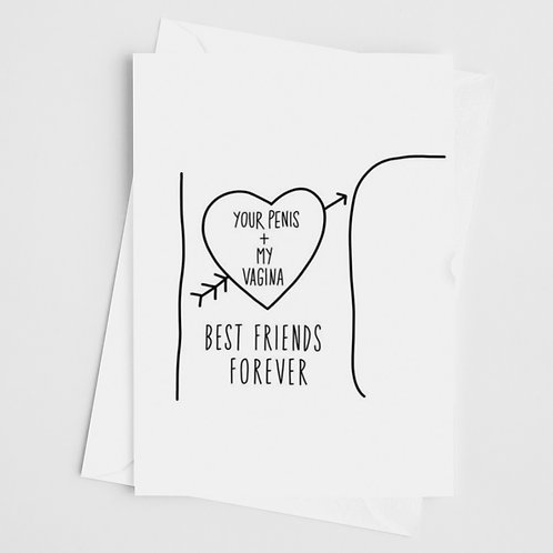 Dirty Best Friends Forever Card