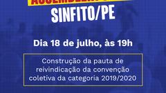 Sinfito/PE convoca profissionais para assembleia geral