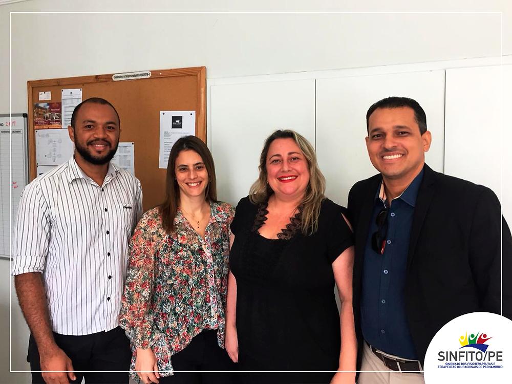 Dr. Cristiano Nasciment, Maria Dulce, Cristiane Freitas e Stivison Tavares