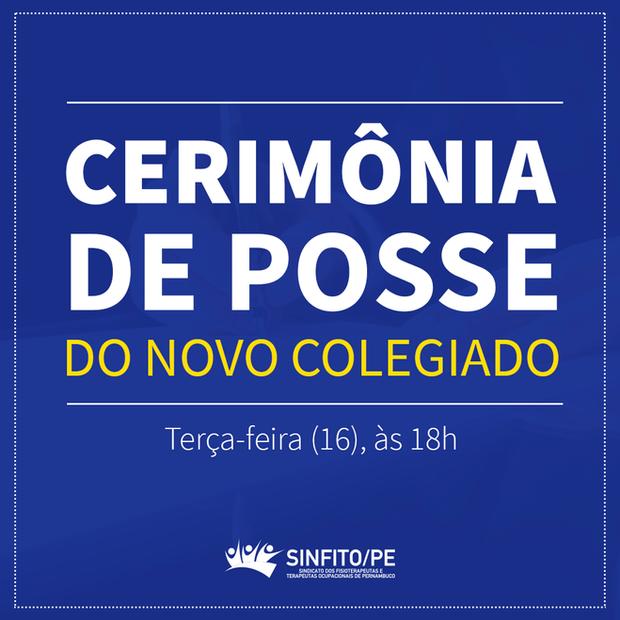 Cerimônia de posse do novo colegiado do Sinfito/PE acontece nesta terça-feira (16)