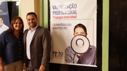 Presidente e Diretora do SINFITO/PE