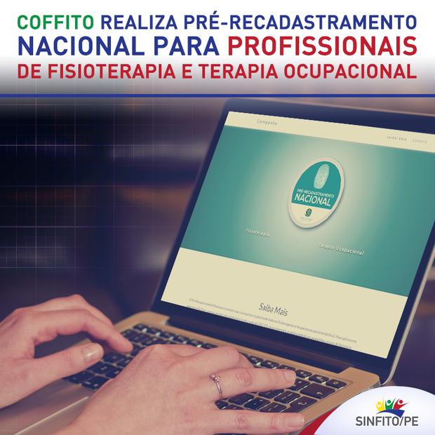 COFFITO realiza pré-recadastramento dos profissionais