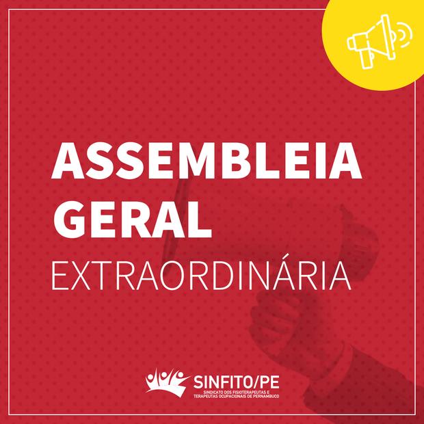 Sinfito/PE convoca profissionais para Assembleia Geral Extraordinária