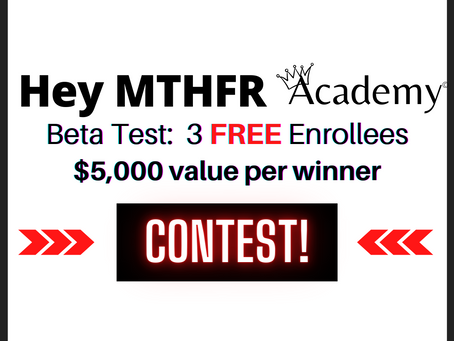 Hey MTHFR, Enter to WIN...