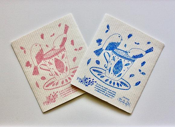 """""""Le Carré"""" essuie-tout lavable - édition spéciale printemps 2020"""