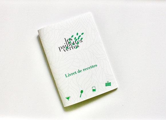 Livret de recettes Les Paillettes Vertes - version papier