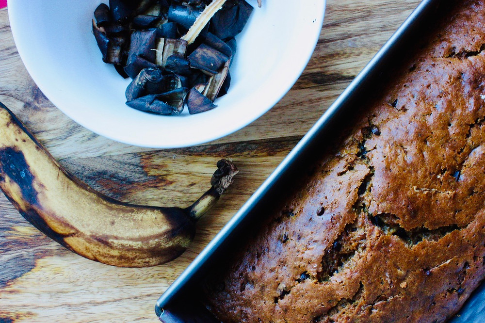 Cake à la banane, banana bread. astuce zéro gaspi, anti-gaspi, zero waste