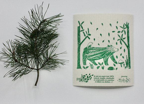 """""""Le Carré"""" essuie-tout lavable - édition spéciale animaux de la forêt"""