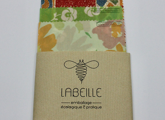 Beeswrap Le Trio emballage écologique