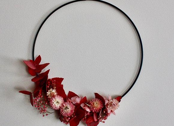 Demi-couronne de fleurs