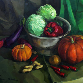 Still Life - Colours of Vegetables