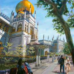 Sultan Mosque at Muscat Street, Singapore