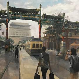 Beijing Qianmen Street in September