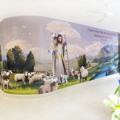 Digital Mural Artwork for Good Shepherd Place, Singapore