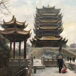 Yellow Crane Tower in Winter, Wuhan