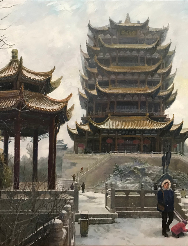 Yellow Crane Tower in Winter, Wuhan 武汉冬天里的黄鹤楼_Iphone.JPG