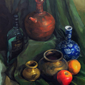 Still Life - Vessels and fruits