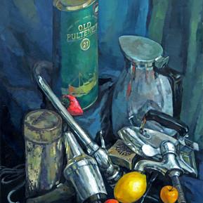 Still Life - Metals and Fruits