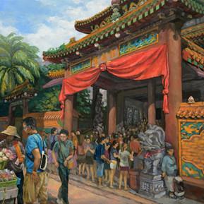 Kwan Im Thong Hood Cho Temple in Waterloo Street, Singapore
