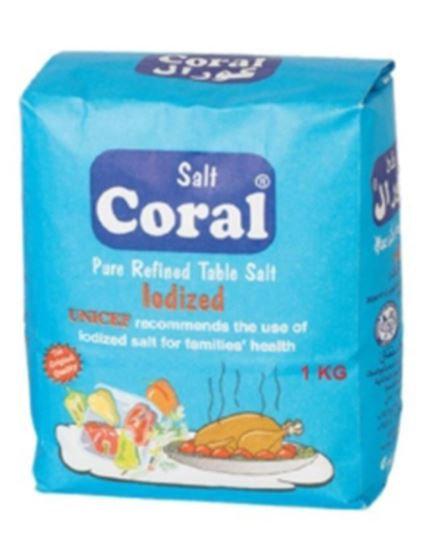 Coral Pure Refined Iodized Salt 1kg