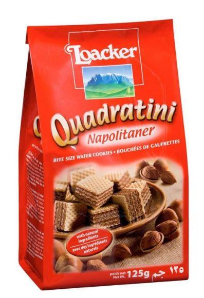 Loacker Quadratini Wafer Napolitaner 125g