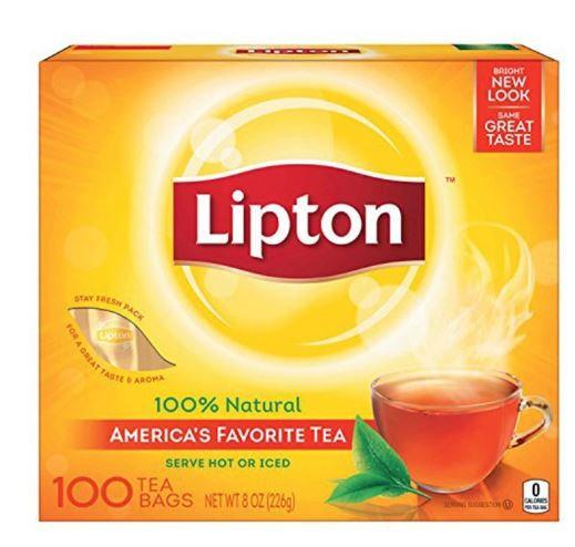 Lipton 100% Natutal Tea - 100 Tea Bags
