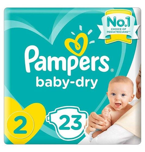 Pampers New Baby-Dry Diapers Size 2, 3-8kg Pack of 6