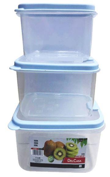 Delcasa 0.6,1 & 1.6 Litre Plastic Storage Box