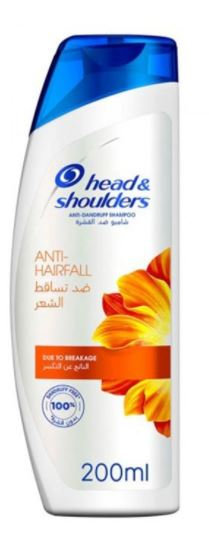 H&S Anti-Hairfall Anti-Dandruff Shampoo 200ml