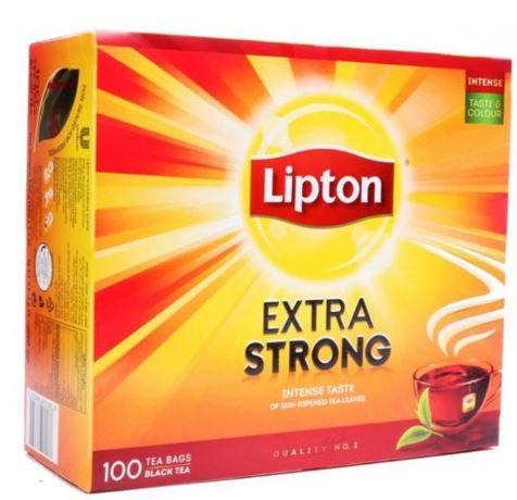 Lipton Extra Strong Intense Taste 100 Tea Bags