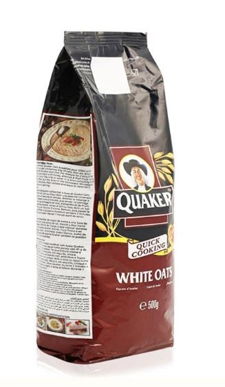 Quaker Quick Cooking White Oats Packet 500g